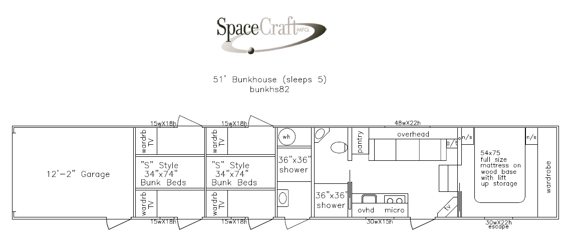 51 foot floor plan