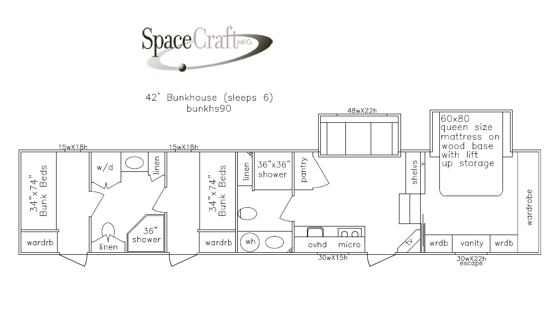 42 foot floor plan