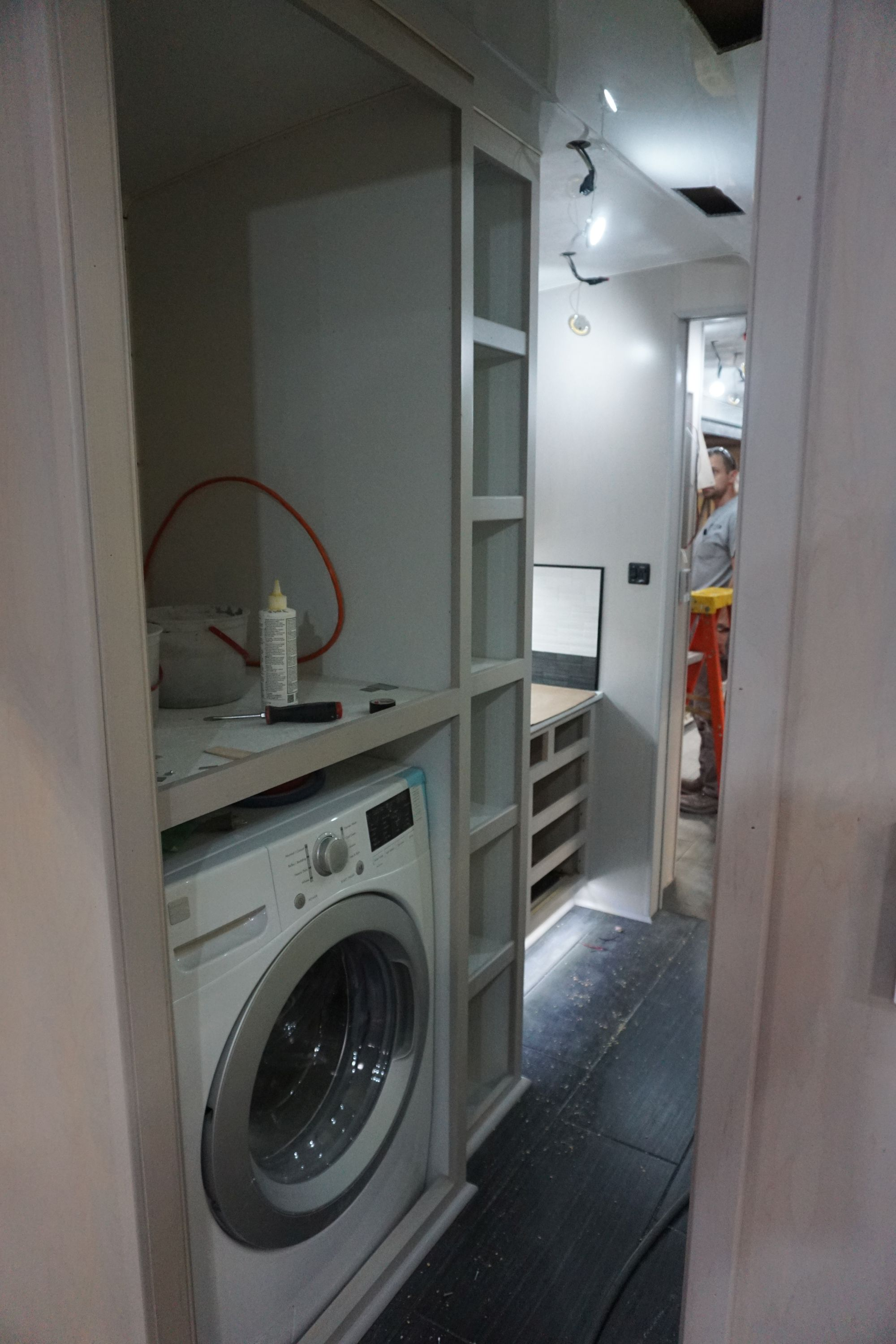 Washer/Dryer Cabinet Interior