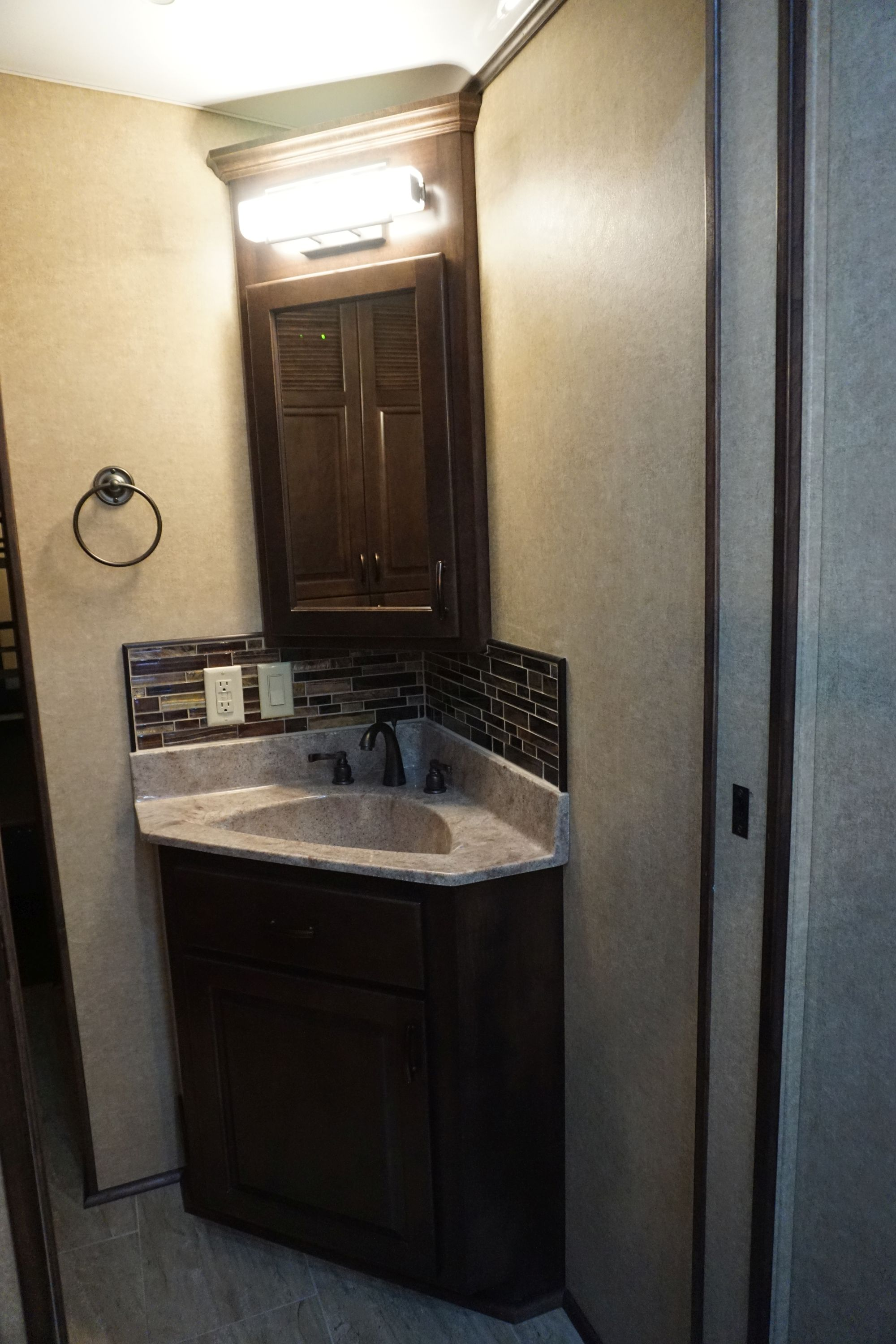 Walk-through Bathroom Vanity & Medicine Cabinet