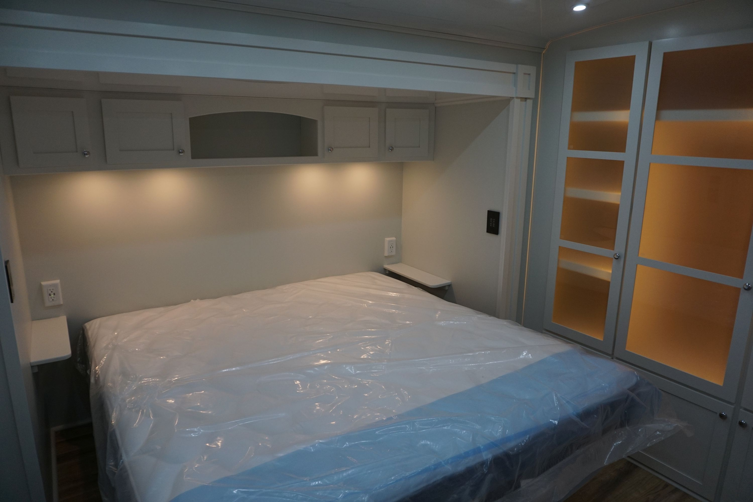 King Mattress with Overhead Storage