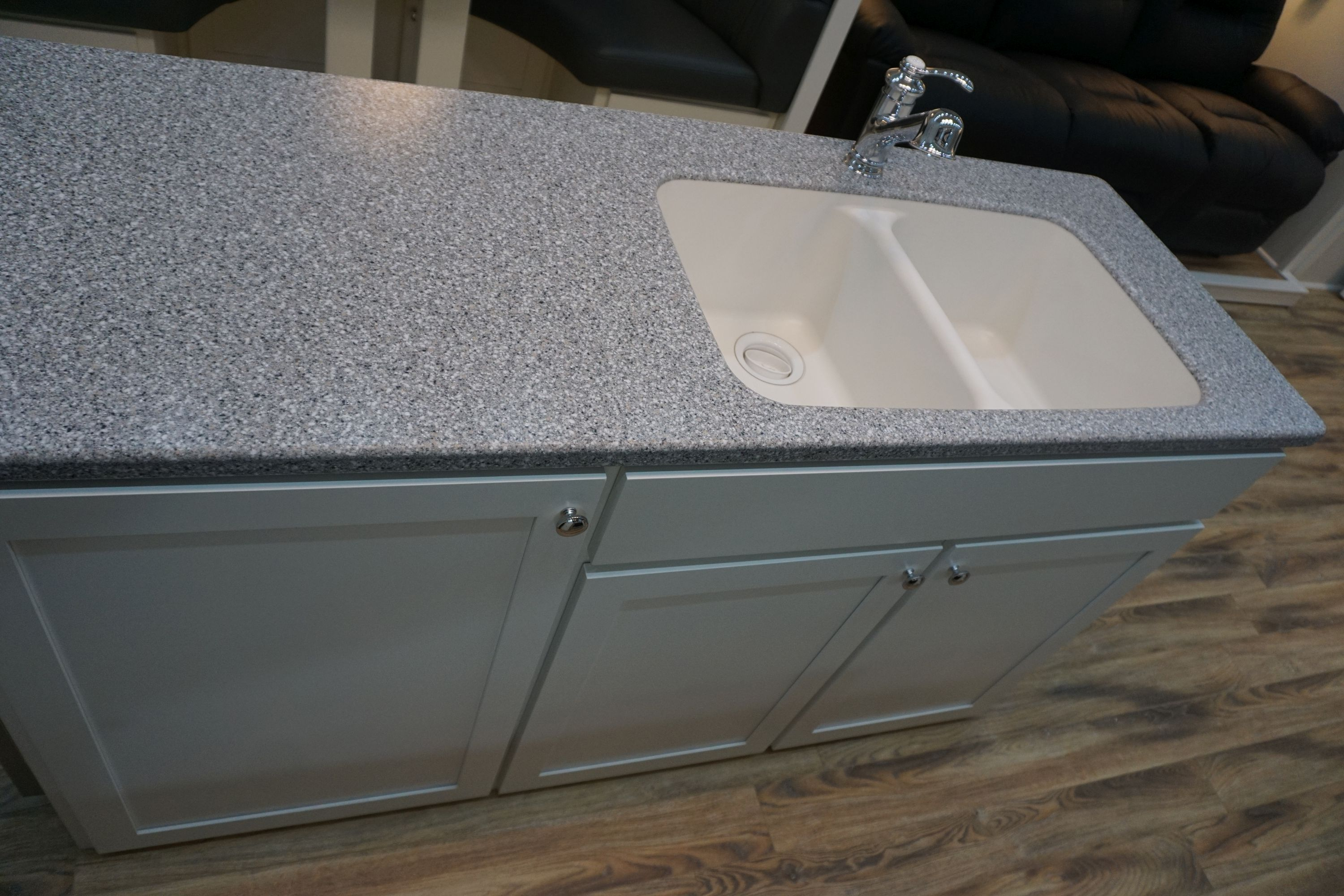 Kitchen Island with Solid Surface Countertop