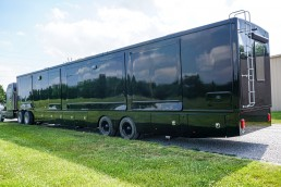 Black Exterior 57 Foot Two Bedroom Semi Trailer